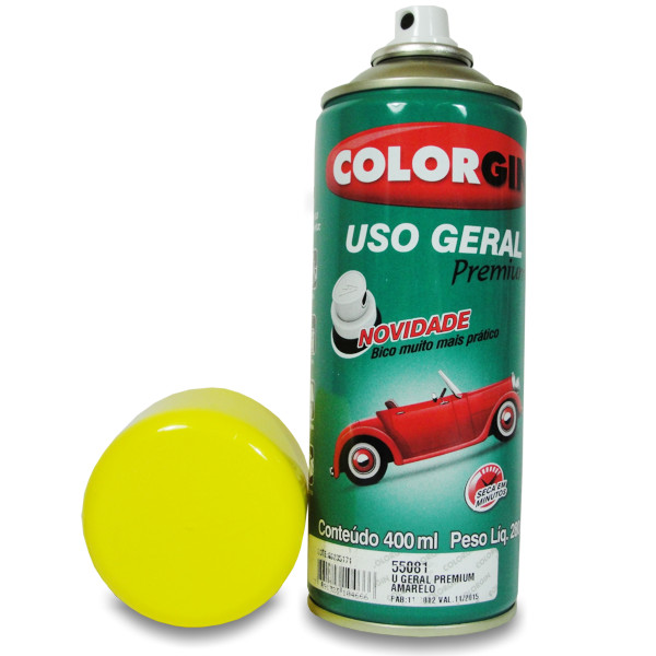 Tinta Spray Colorgin Amarela