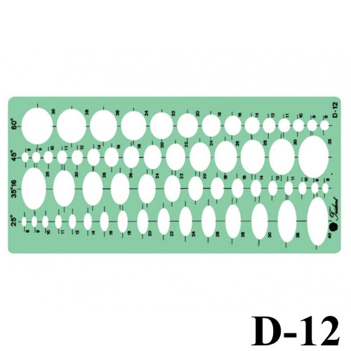 Gabarito Elipse D-12