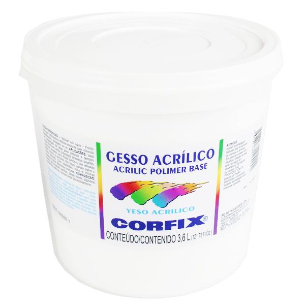 gesso acrilico para tela corfix -3600ml