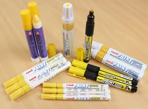 caneta marcador amarelo industria