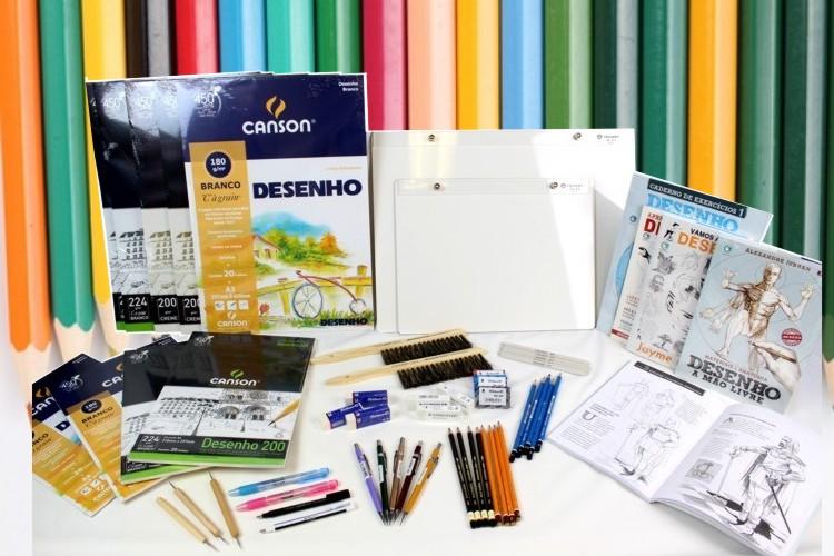 material de desenho realista comprar preço valor