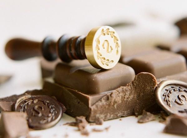 chocolate carimbo sinete personalizado