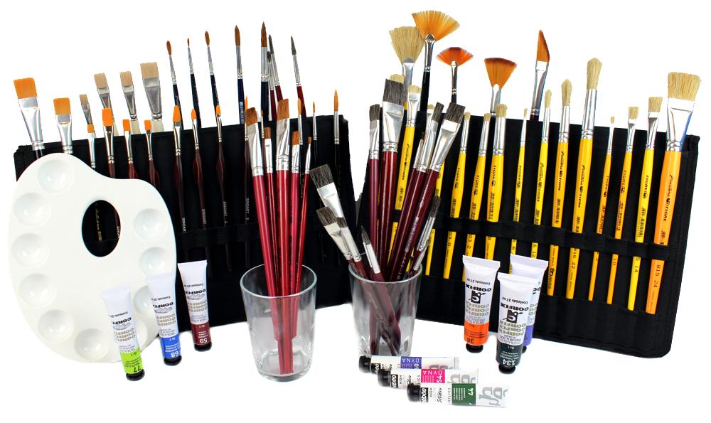 pinceis para pintura em tela