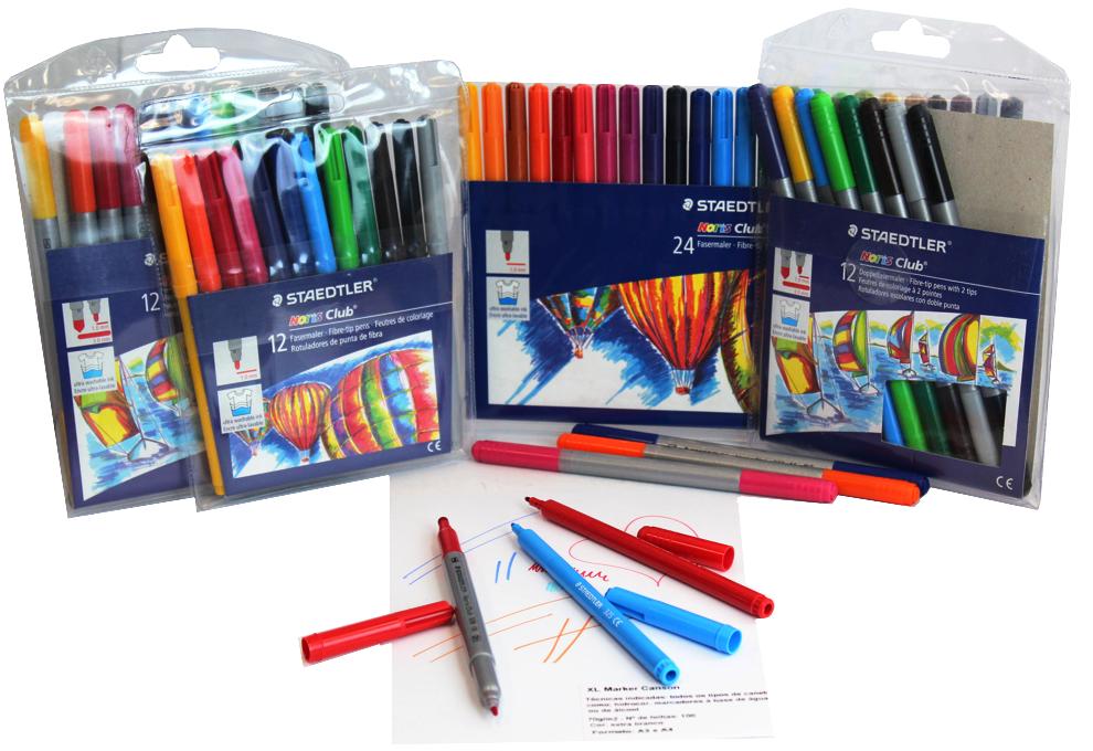 canetinha caneta fibralo staedlter ponta dupla 12 24 cores