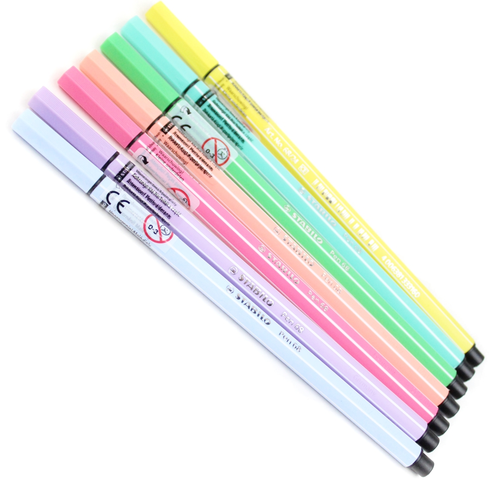 caneta-pen-68-pastel-kit-hidrografica-marcador-1mm