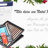 kit-natal-presente-pastel-seco-laspis-caran-d-ache-bloco-papel