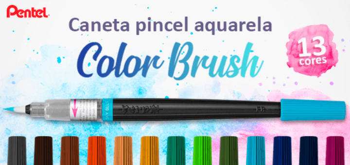 Caneta Aquarela Color Brush Pentel